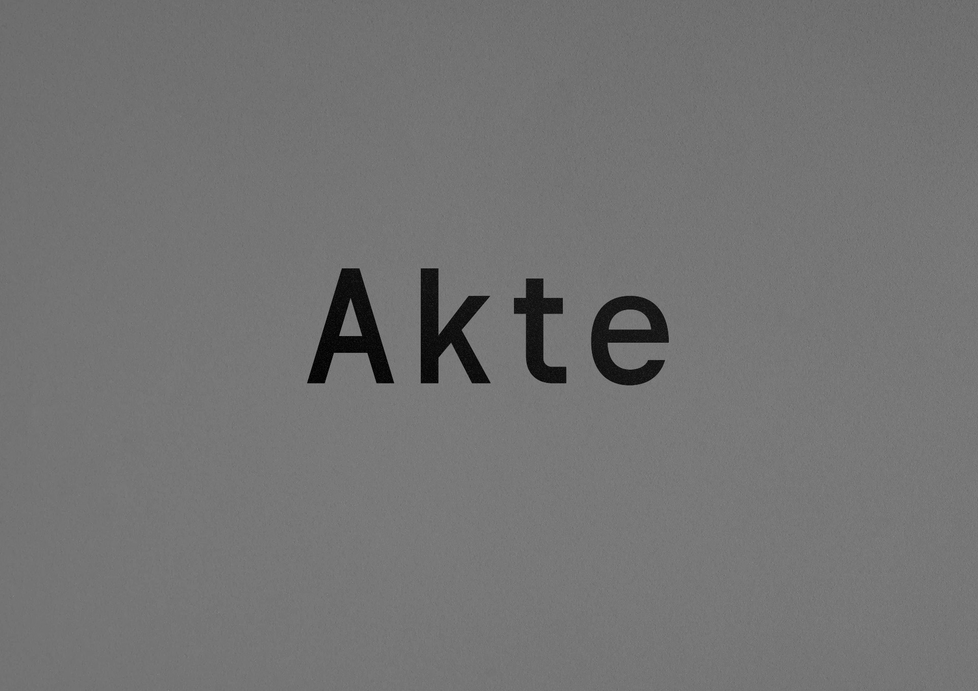 Malwin Béla Hürkey — Visual Communication Akte — Type Design