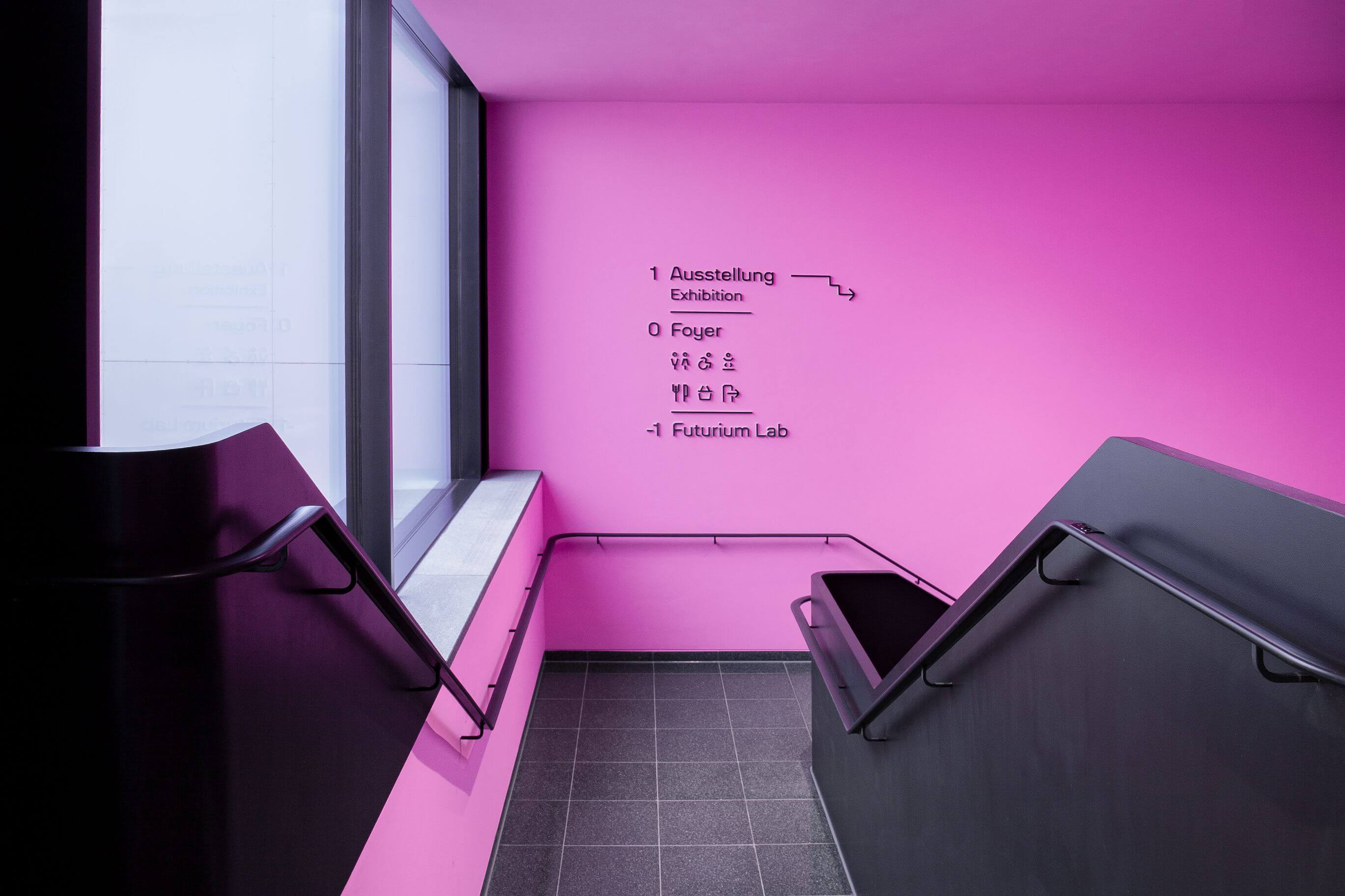 Malwin Béla Hürkey — Visual Communication Futurium — Wayfinding
